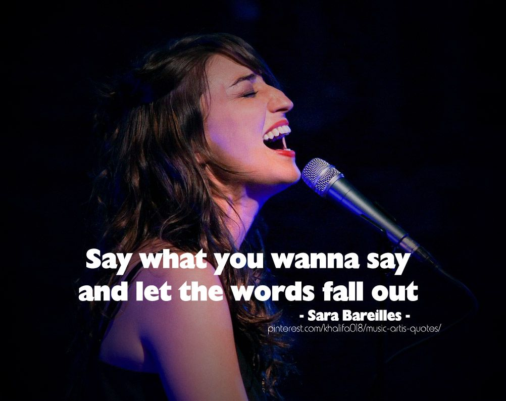 say what you wanna say song