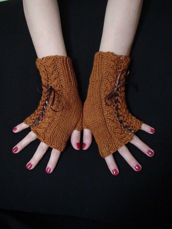 Fingerless Gloves Handknitted