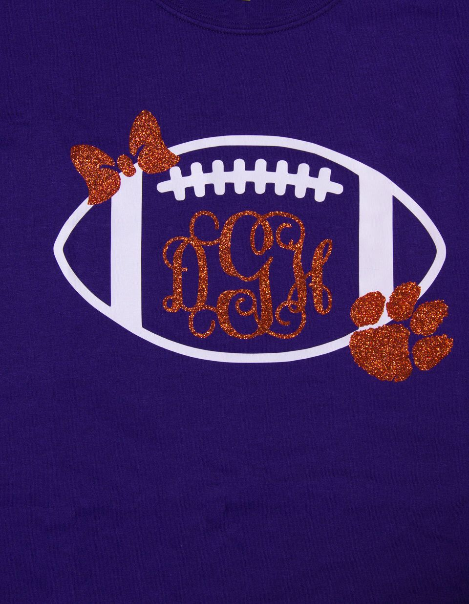 Monogram Preppy Football Shirt...can be made with any team