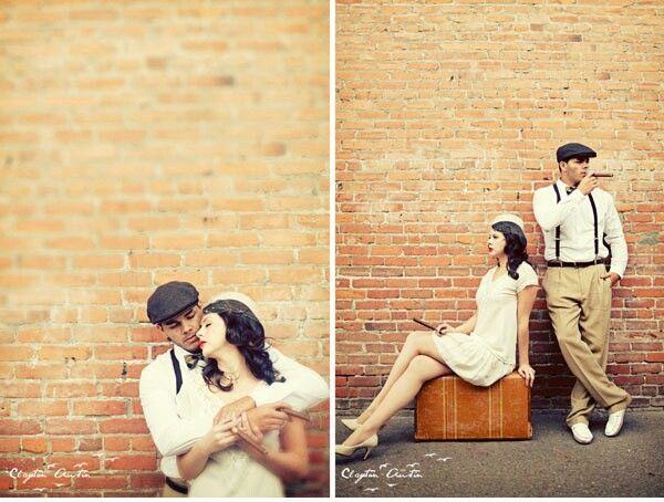 Vintage Inspired Broken Down Car Engagement Ruffled Vintage Engagement Photos Fun Wedding Photography Engagement Photoshoot