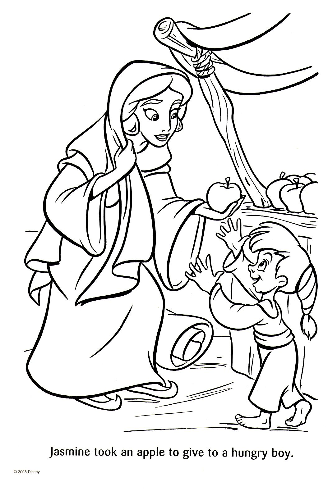 Jasmine Coloring Book PagesDrawing