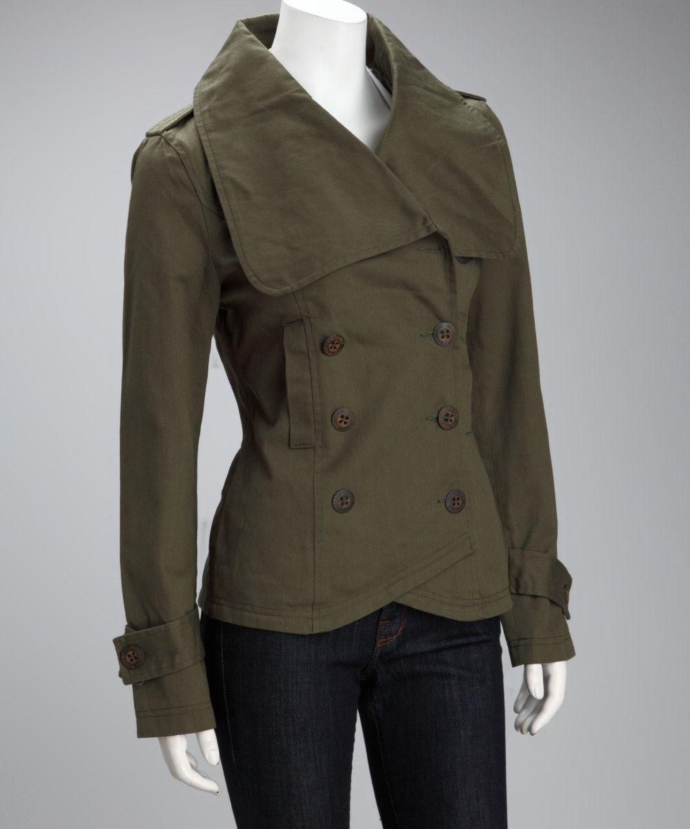 Olive Green Leather Jacket