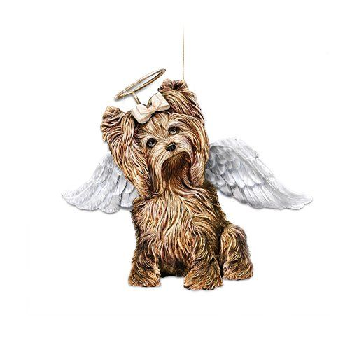 My Little Angel Yorkie Christmas Ornament by The Bradford Exchange ...