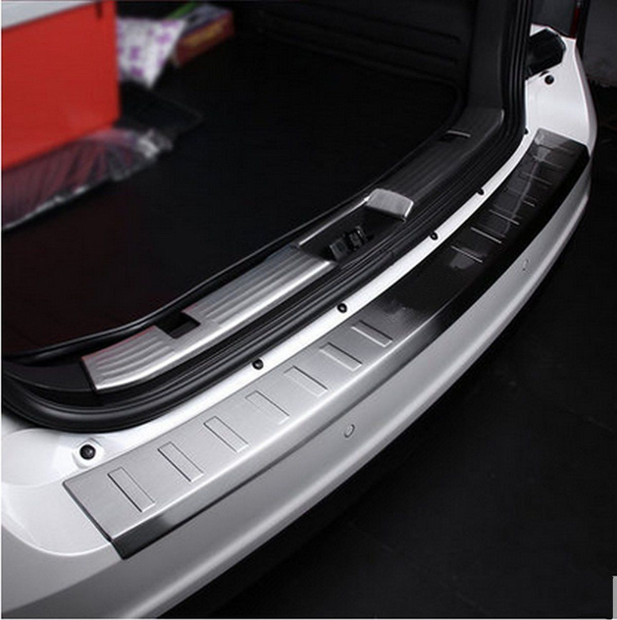 Stainless Rear Bumper Protector Sill Plate Cover Fits for