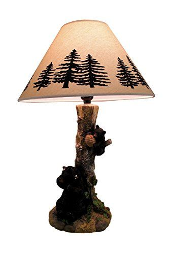Rustic Black Bears In A Honey Tree Table Lamp Learn More By Visiting The Image Link Note Amazon Affiliate Link Table Lamp Lamp Tree Table