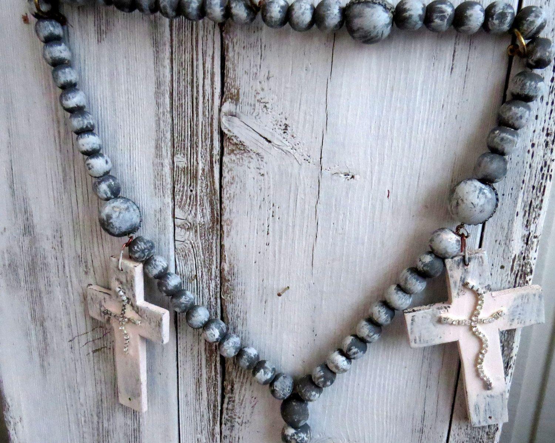Rosary Beads Rosary Chain Wooden Rosary Wall Art Rosary