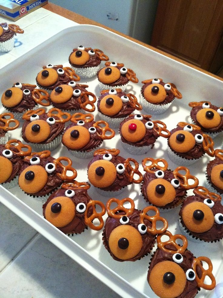 My reindeer cupcakes for christmas last year!