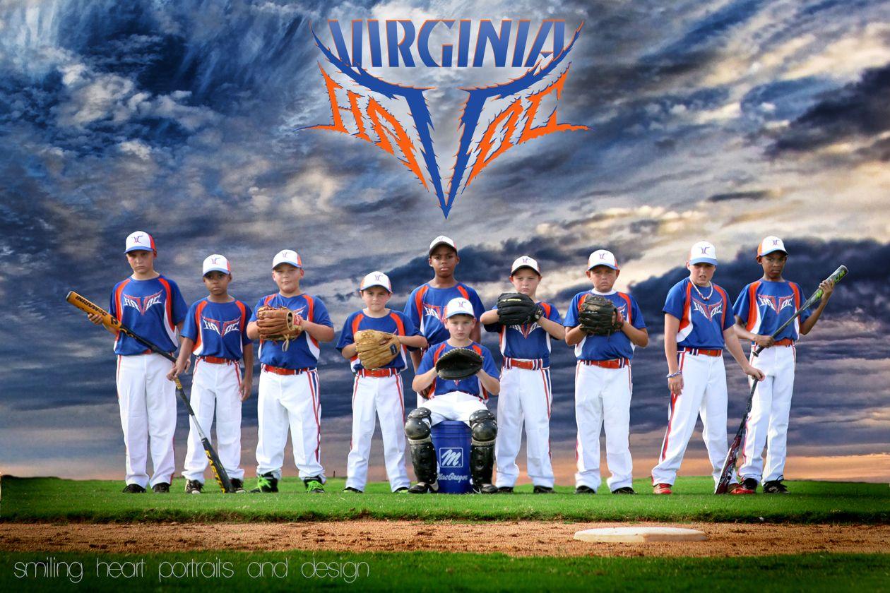 Travel ball baseball team 10U Virginia Havoc team portrait