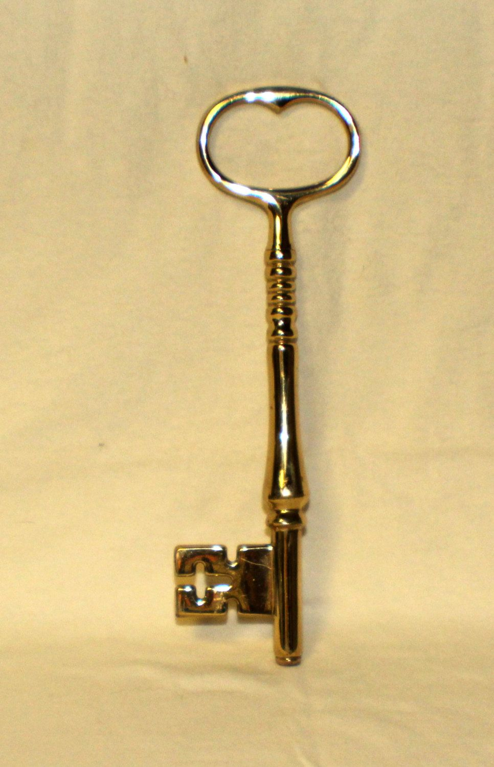 Large Solid Brass Skeleton Key Decoration Heavy Paperweight 8 inches ...