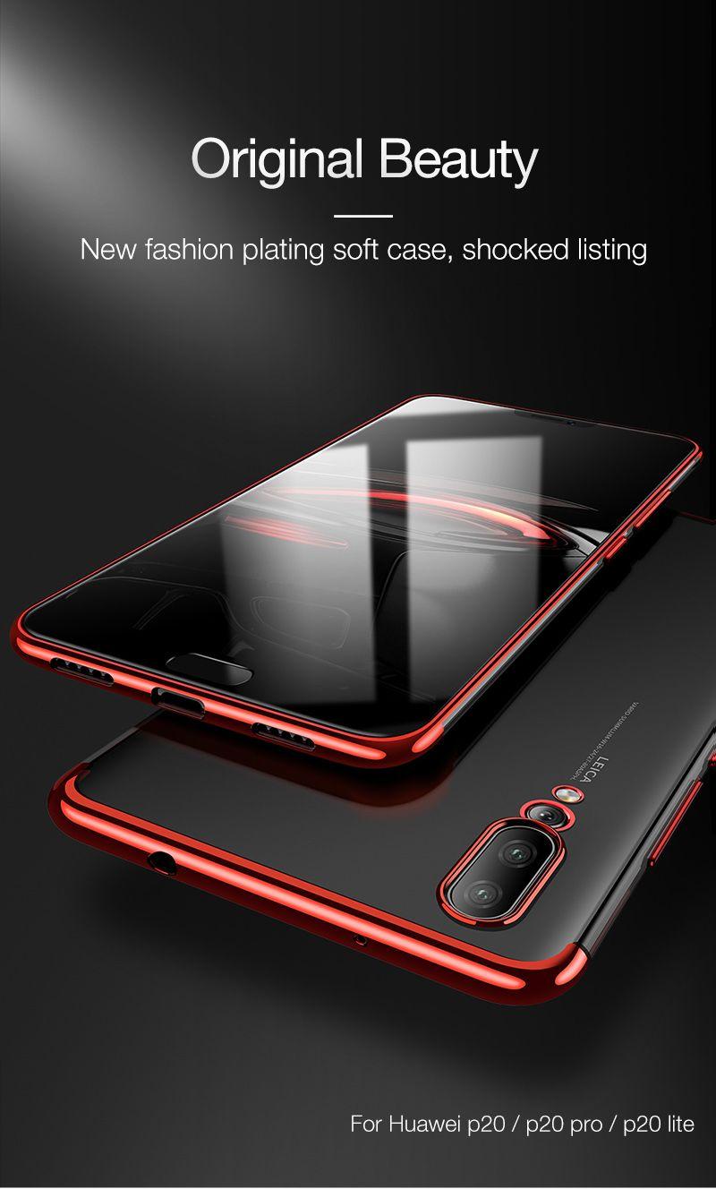 Cafele Plating Tpu Case For Huawei P20 Lite Pro Honor 10 Ultra Soft Tempered Glass Original Xiaomi Redmi Note 5