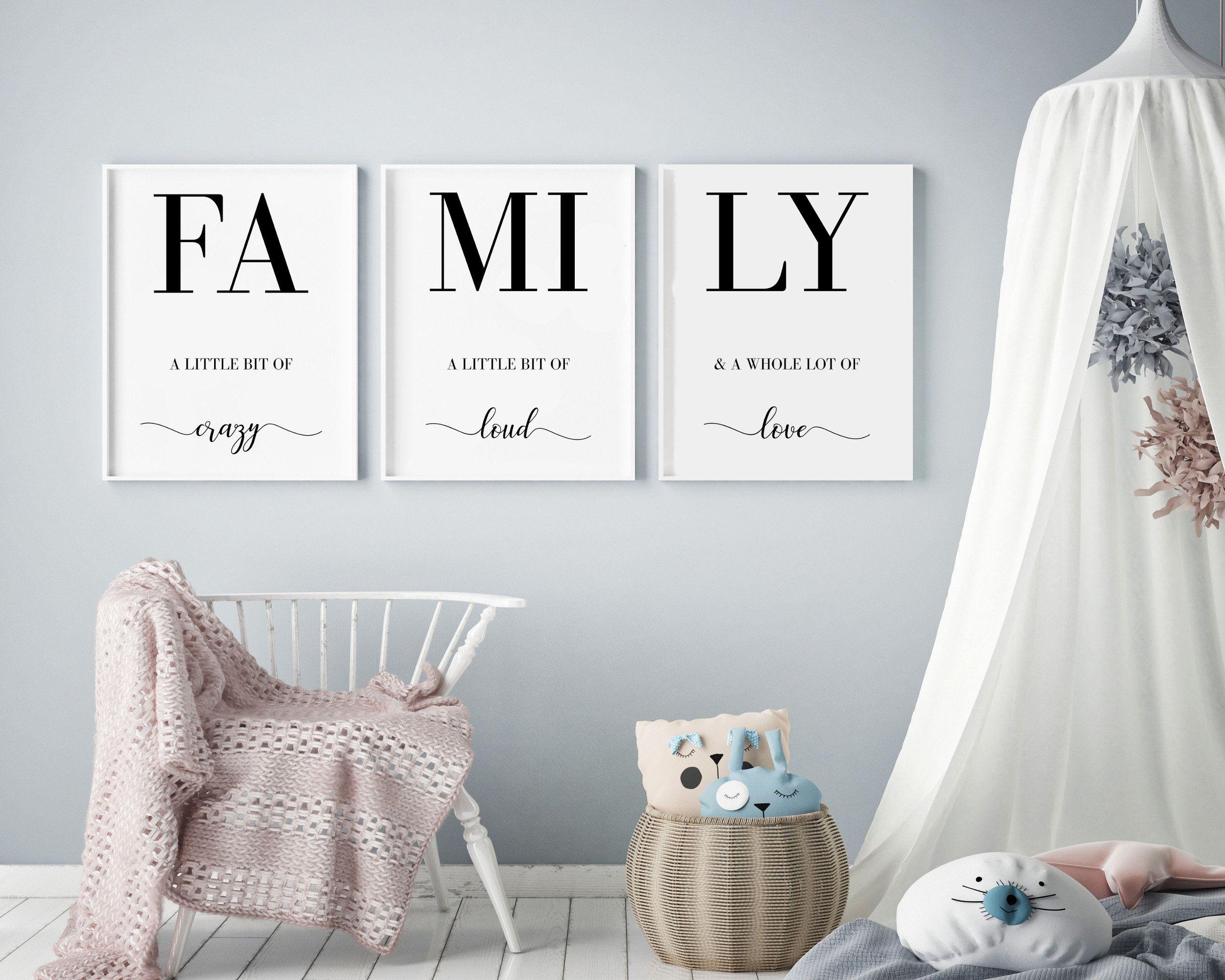 FAMILY A LITTLE BIT OF CRAZY LOVE WALL ART DECAL VINYL STICKER LAUGH