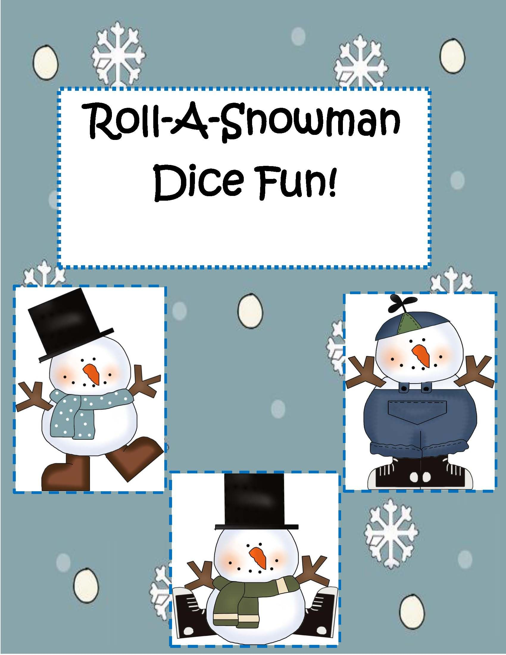 Themes Holidays Christmas Roll A Snowman Dice