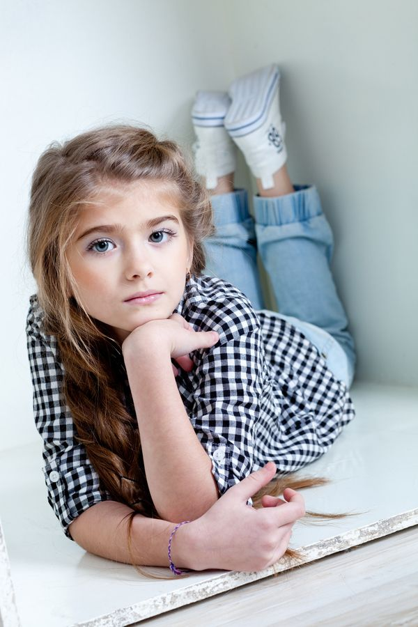 Young Girl Relaxes