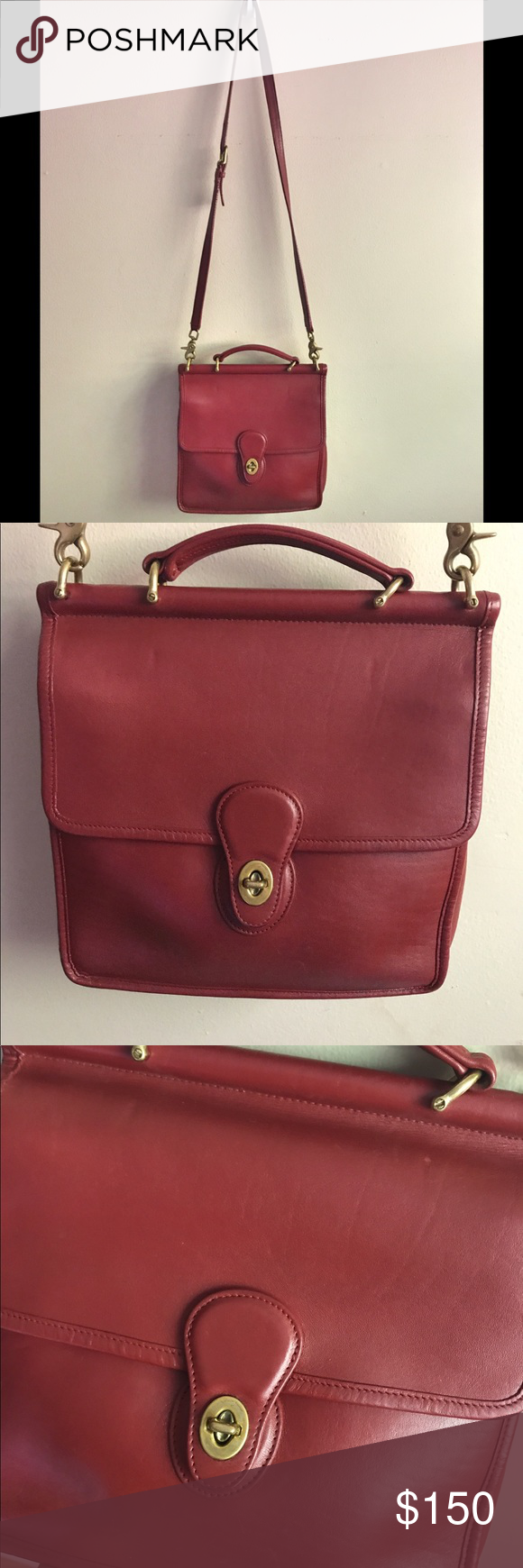 coach vintage red bag up rh publicrelationsjacksonvillefl com