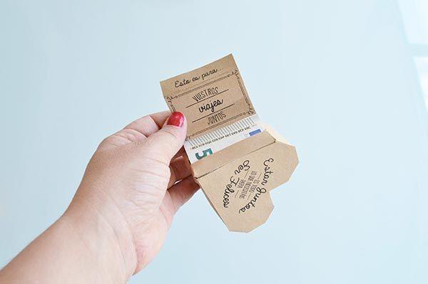 C mo regalar dinero en una boda diy regalos aniversario pinterest regalar dinero boda diy - Ideas para regalar dinero en una boda ...