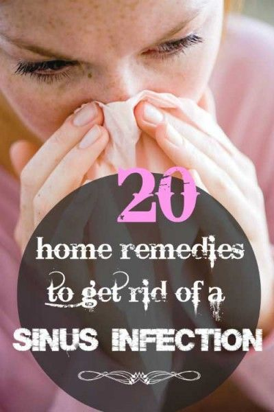 how to get rid of a cold and sinus infection