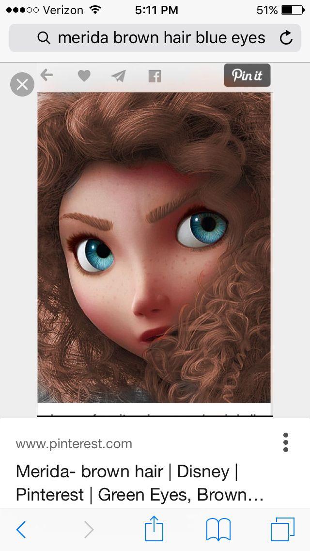 Merida Brown Hair Blue Eyes Brown Hair Blue Eyes Blue Hair