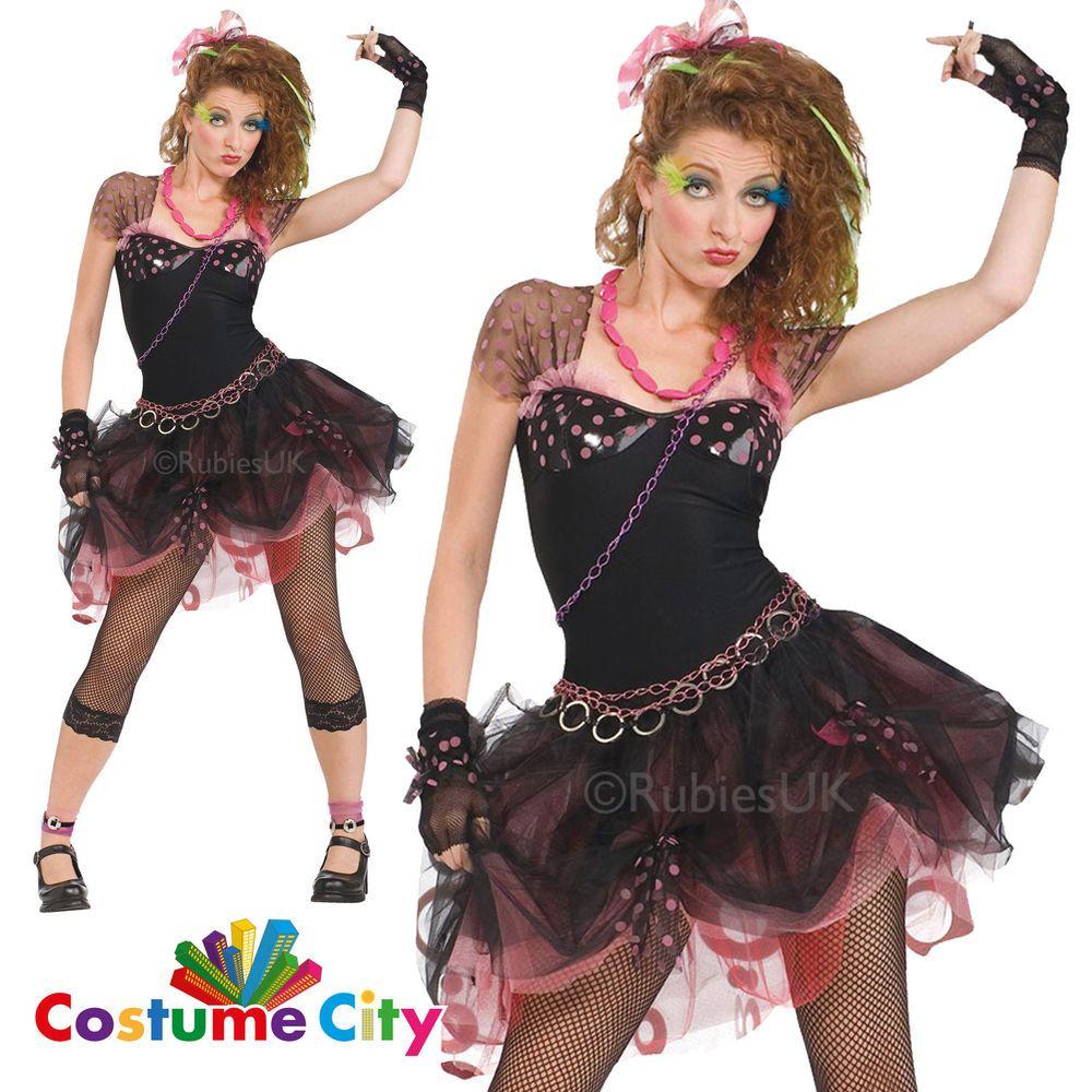 1980s Pop Diva Adult Womens 80s Music Star Fancy Dress Hen