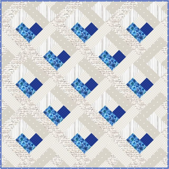 Baby Heart Log Cabin Quilt Free Quilt Pattern ️ She