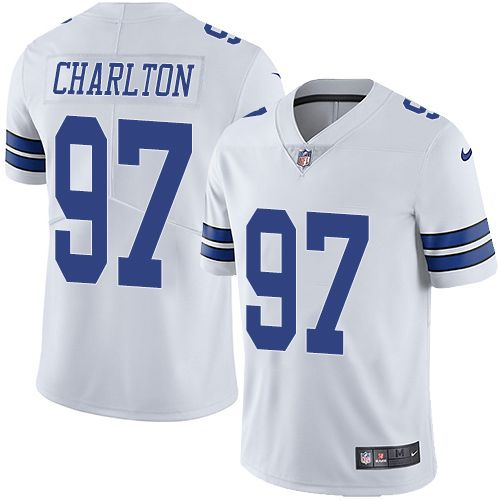 Nike Cowboys  97 Taco Charlton White Men s Stitched NFL Vapor Untouchable  Limited Jersey f5e213517