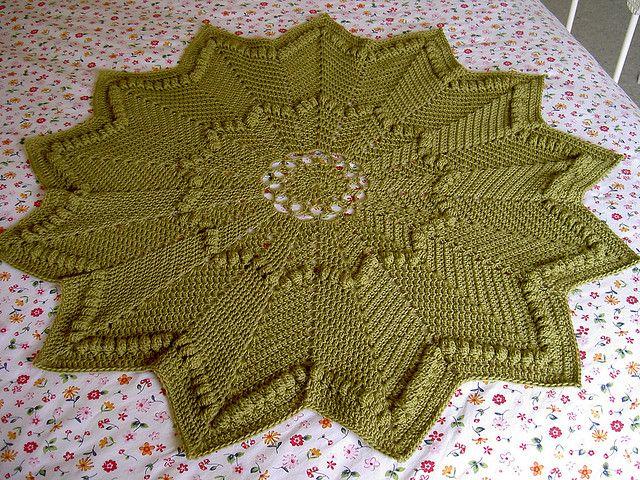 Around the Rosy baby blanket pattern | Crochet ToDo List | Pinterest