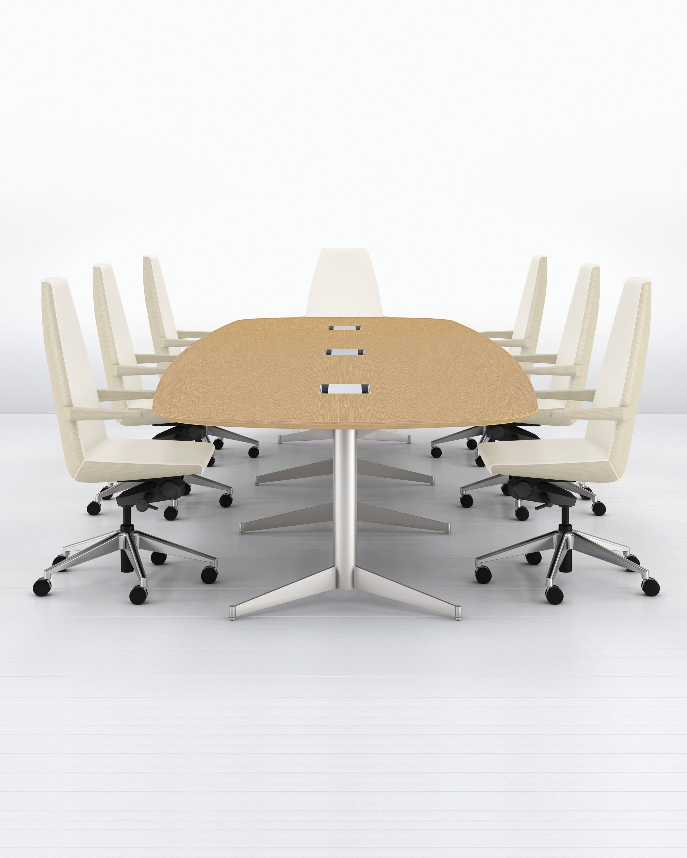 MP Oblong Conference Table In Wood Fuentes Interminables De - Oblong conference table