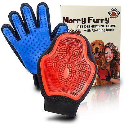 Pet Hair Fur Remover Deshedding Glove Mitt Best for Dog, Cats Furnitures Clothes