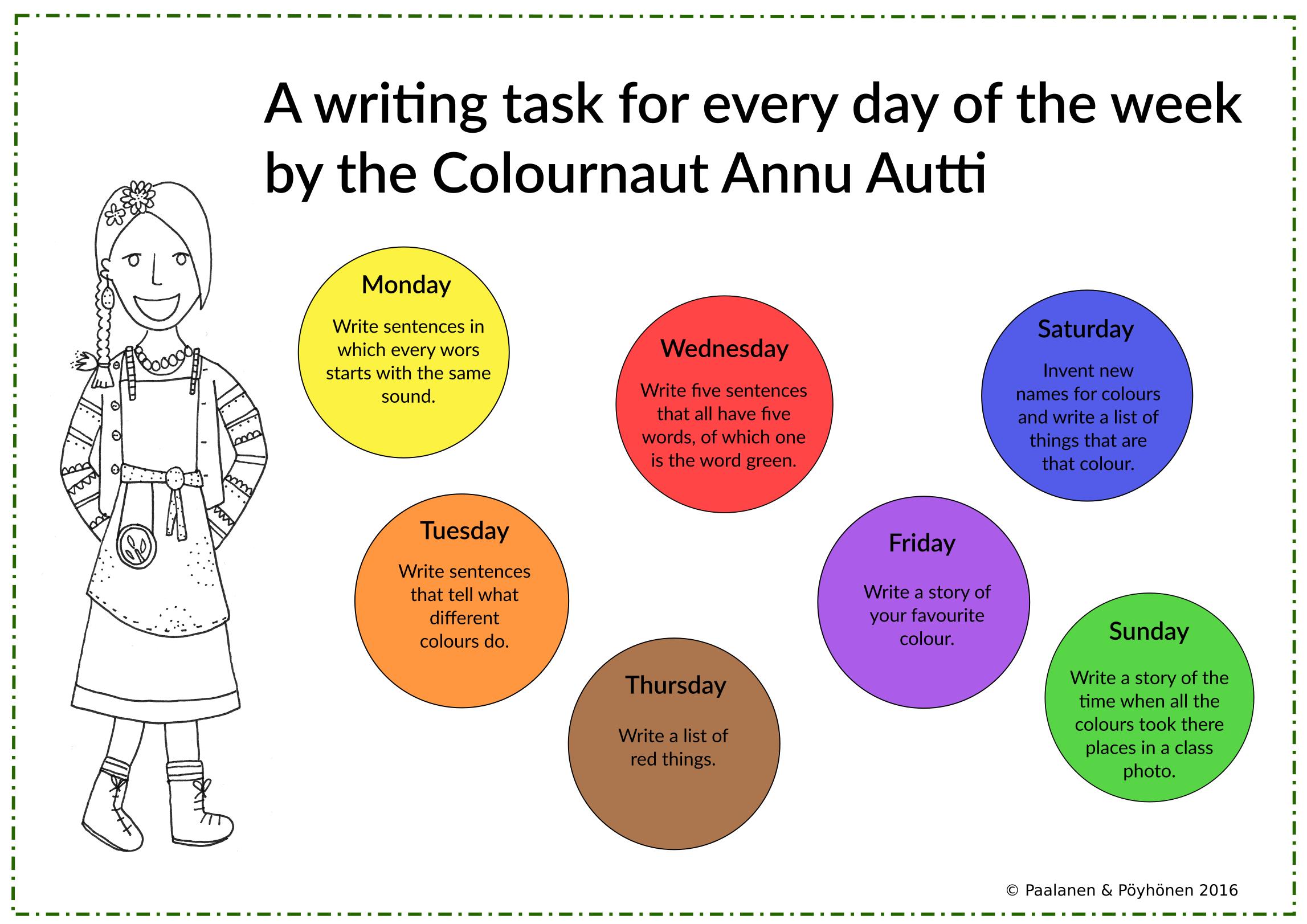 Free Writing Task Writing Prompts English Worksheet