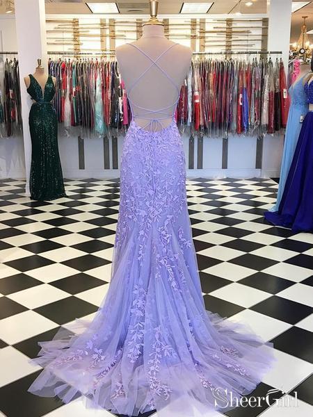 ed47ed3dcc758 Spaghetti Strap Sky Blue Mermaid Prom Dresses Backless Pageant Formal Dress  ARD1783-SheerGirl