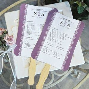 Wedding program fan kit ceremony program fan wedding stuff when it comes to those hot summer weddings nothing will cool off your guests quite like our diy designer fan program paper kits solutioingenieria Image collections