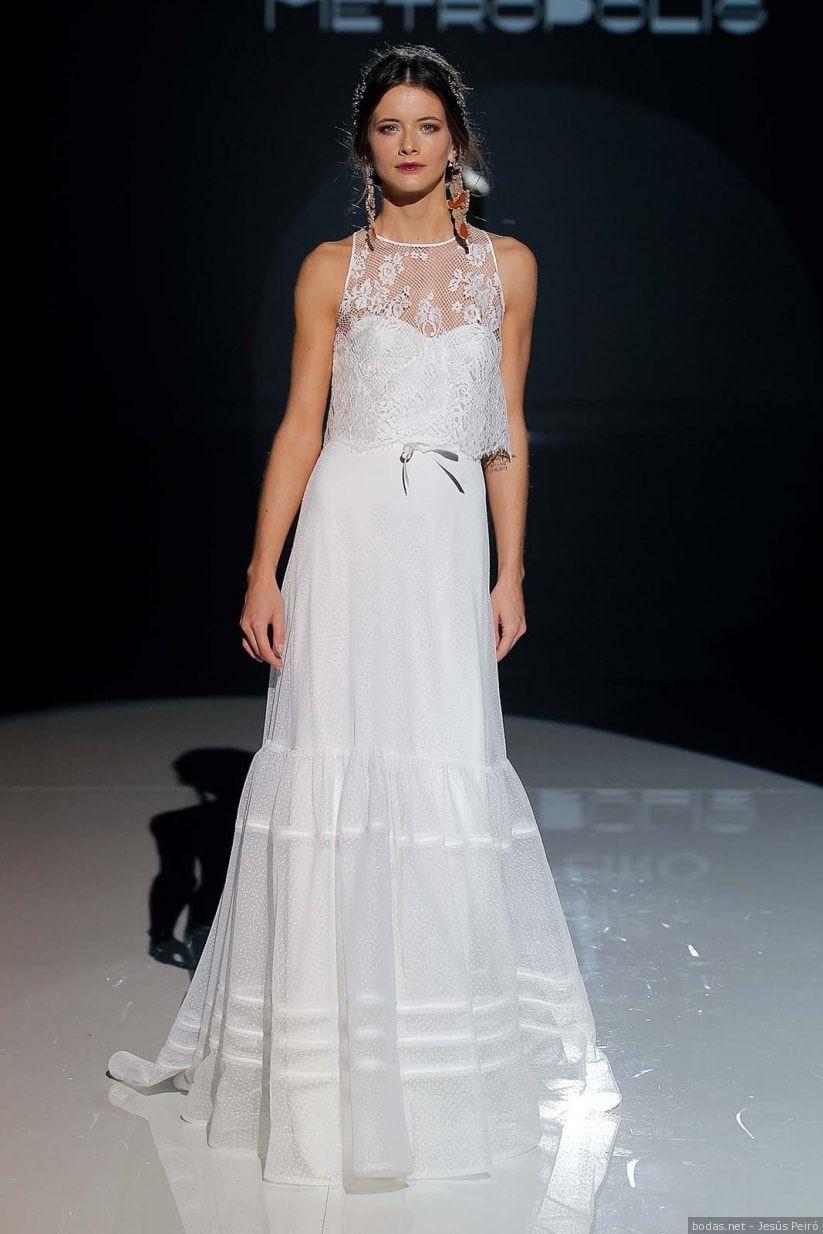 Vestidos de novia jesús peiró la elegancia de lo simple
