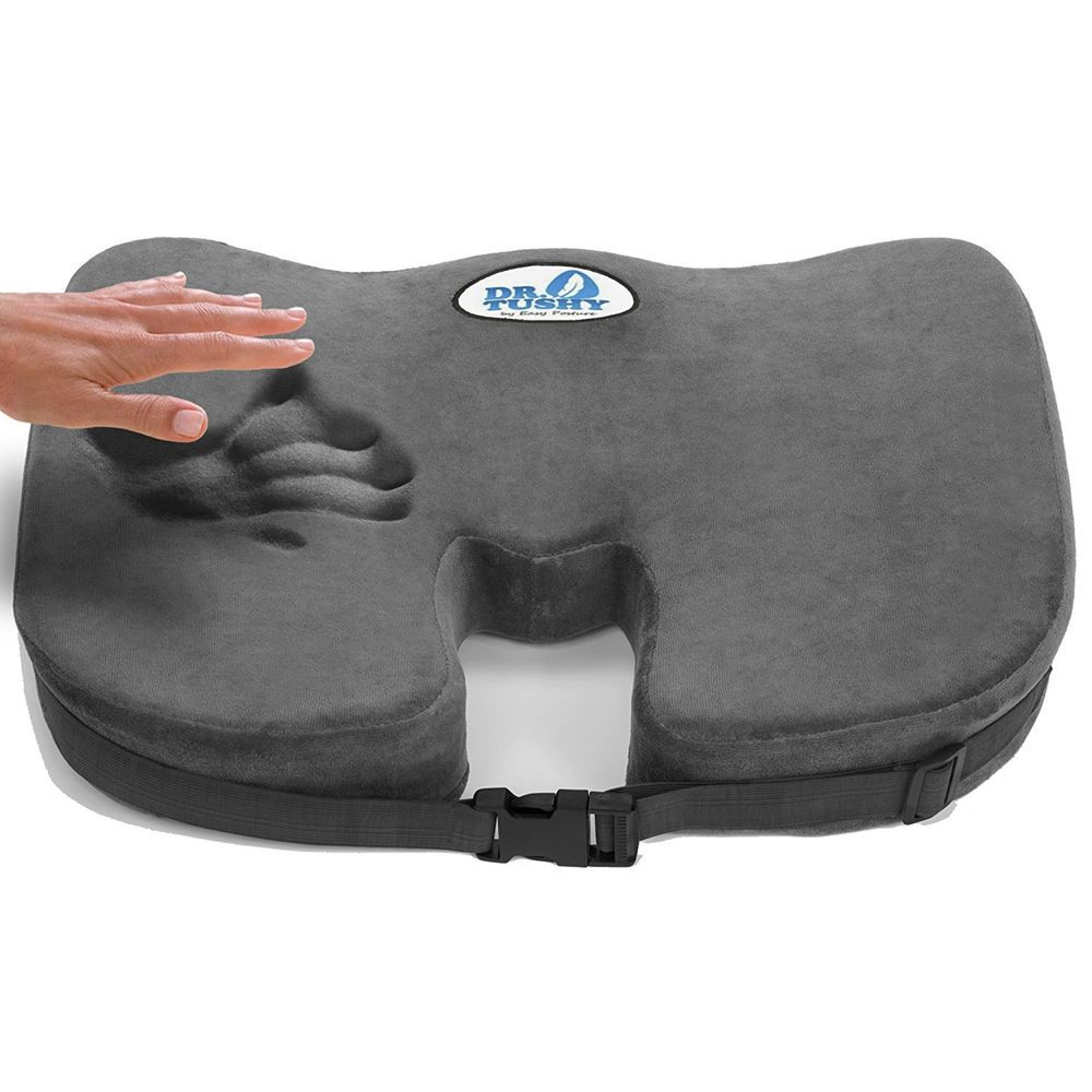 computer chair seat cushion. Truck Driver Seat Cushion Sciatica Driving Computer Chair Memory Foam Pad Office #EasyPostureBrands H