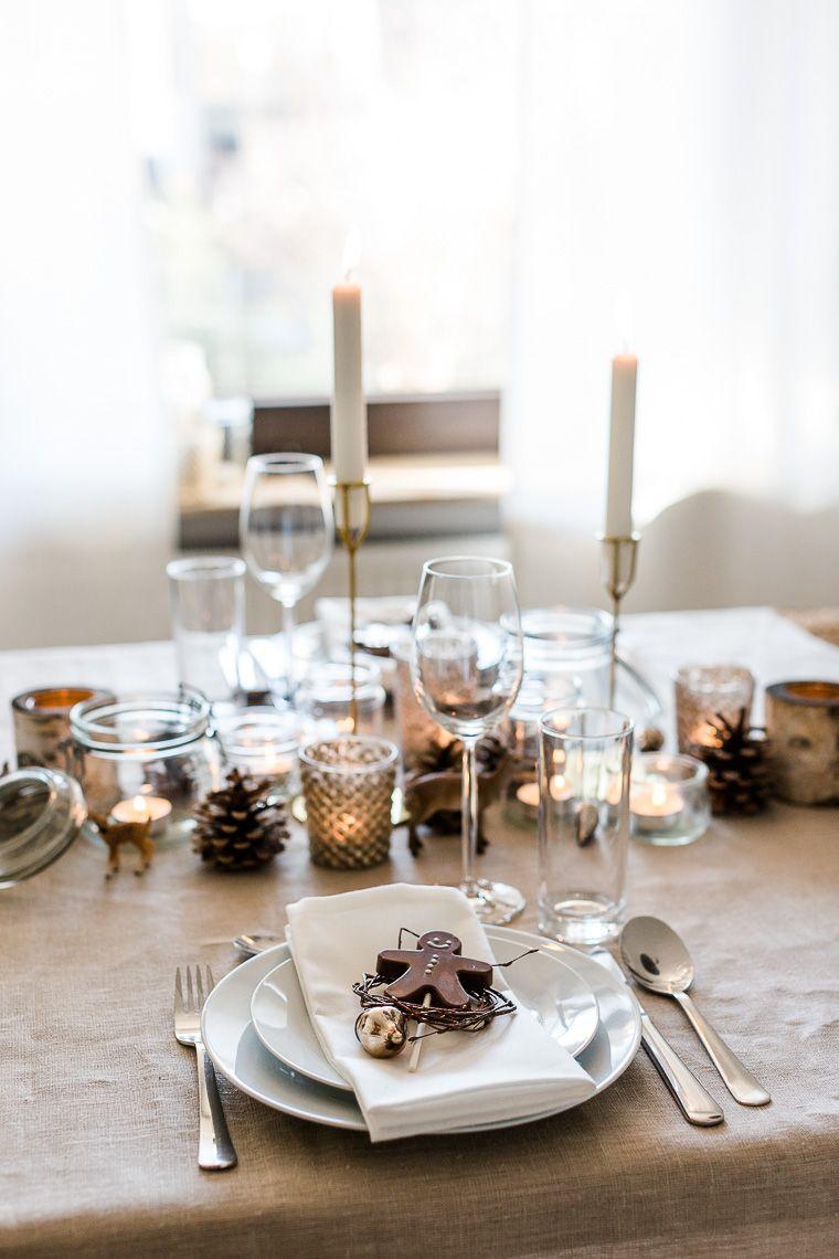 Weihnachtsdeko Lebkuchenmann.Weihnachtliche Tischdekoration Mit Lebkuchenmann Aus Schokolade