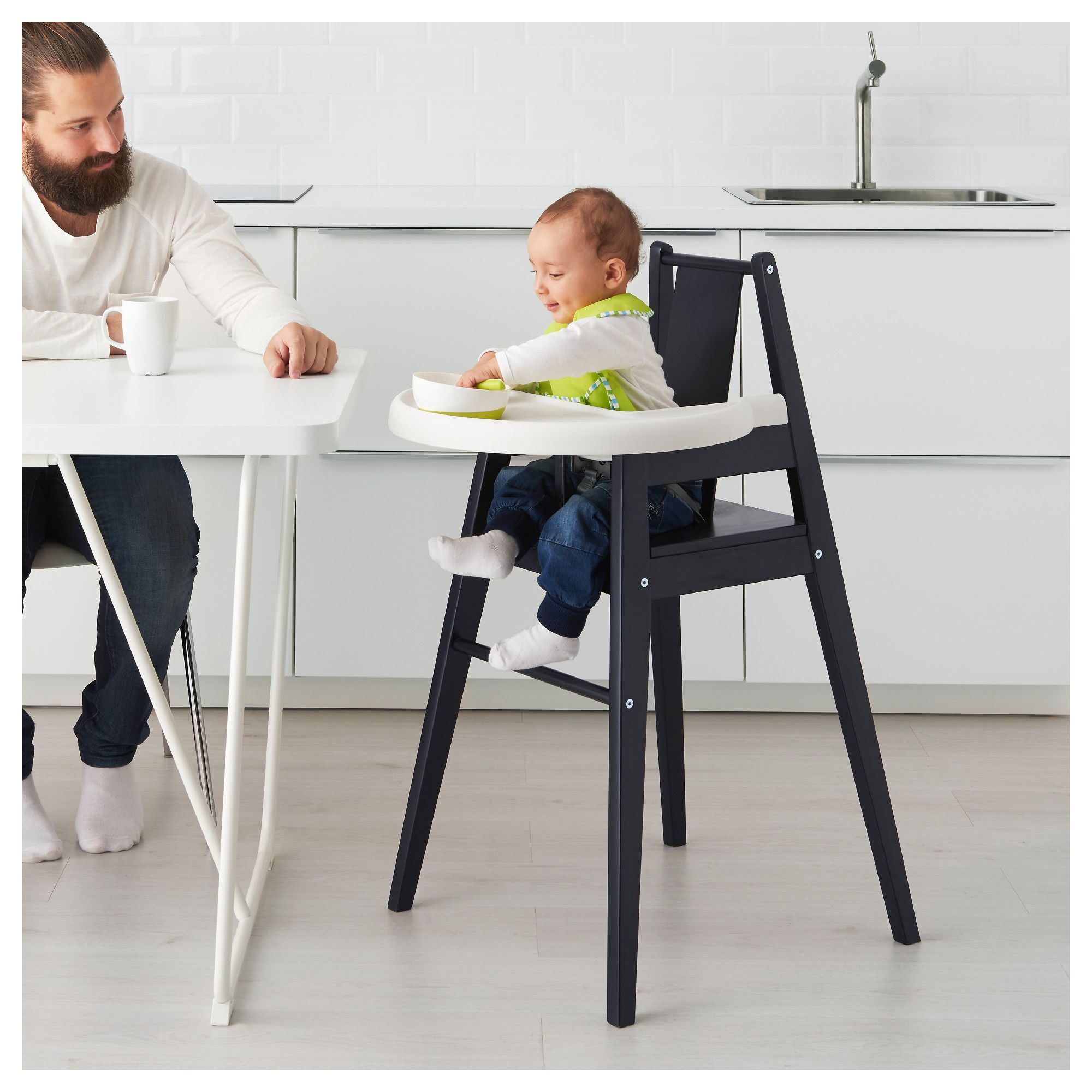 BLÅMES Highchair with tray black Ikea, Chair, Toddler