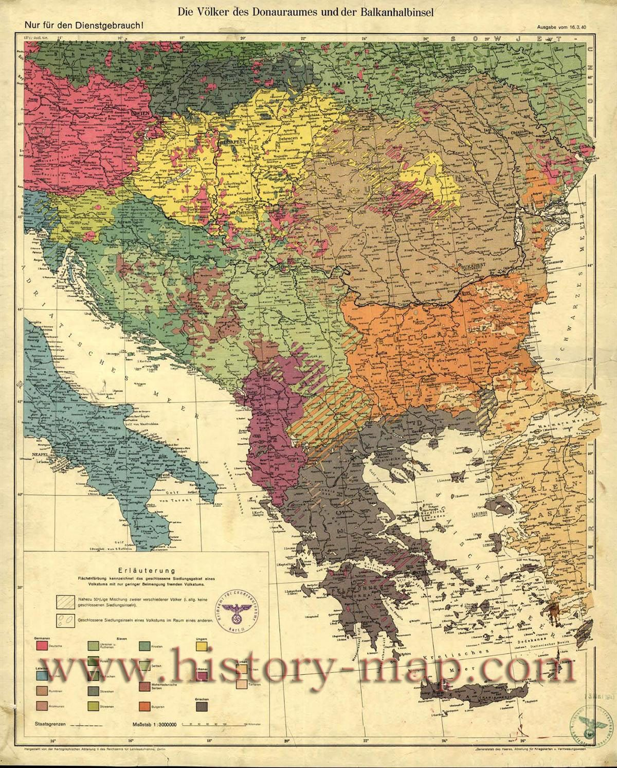 Map of the Balkans, 1940 | mapping the universe (and beyond) | Map ...