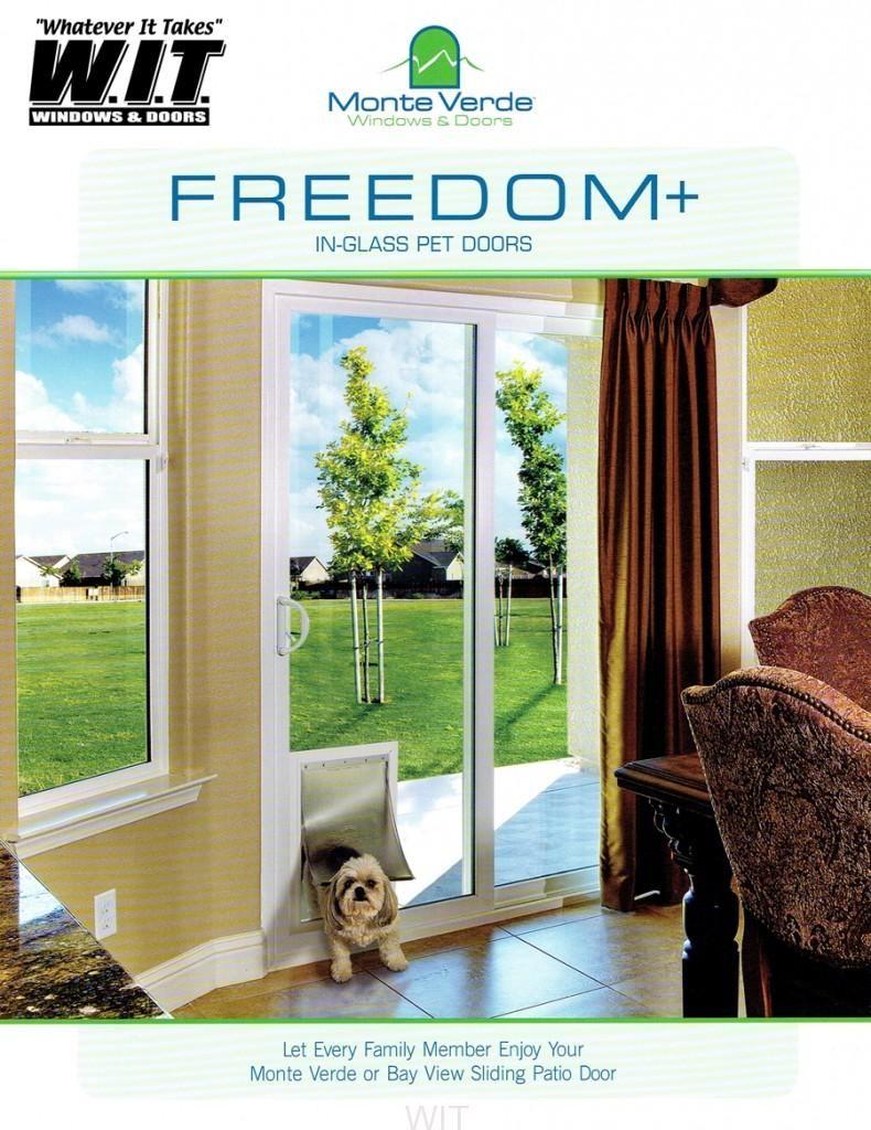 Freedom In Glass Pet Doors Windows And Doors Sliding Glass Door In Glass Pet Door