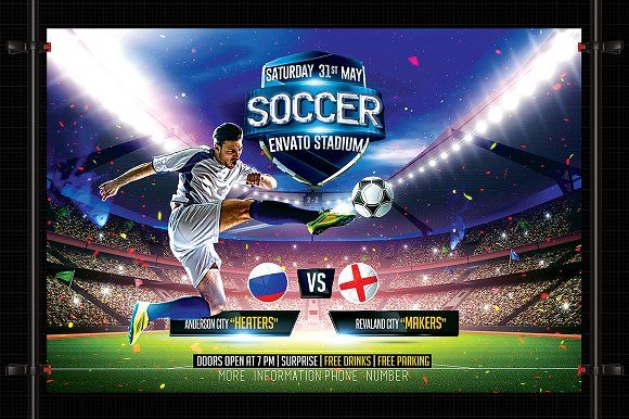Soccer Flyer Template By Basez Flyers On Graphicsauthor  Templates