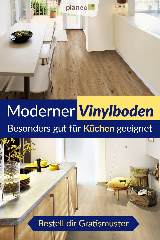 Vinylboden Fur Kuche Zum Klicken Oder Kleben Wasserbestandig Und Stossfest In 2020 Vinylboden Kuche Vinylboden Kuche
