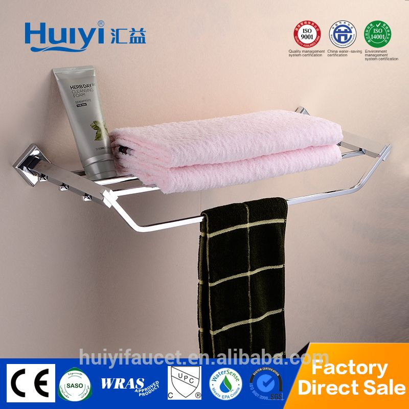 antique square shaped bathroom accessory chrome plating brass towel rack with single bar hy 8405 - Square Bathroom Accessories Chrome
