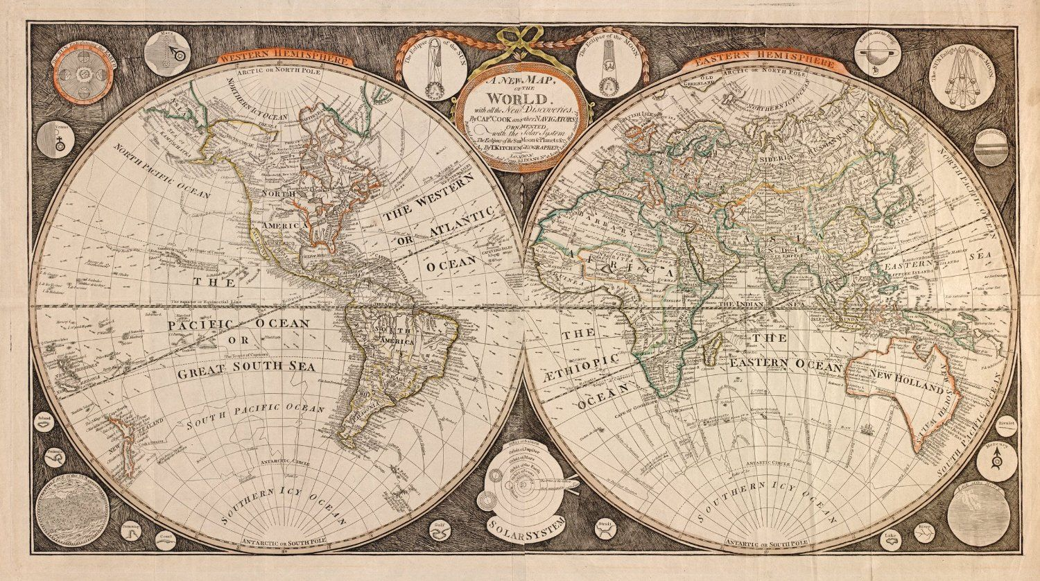 Amazon 1799 old world map of captain cook discoveries map amazon 1799 old world map of captain cook discoveries map reprint 44 gumiabroncs Gallery