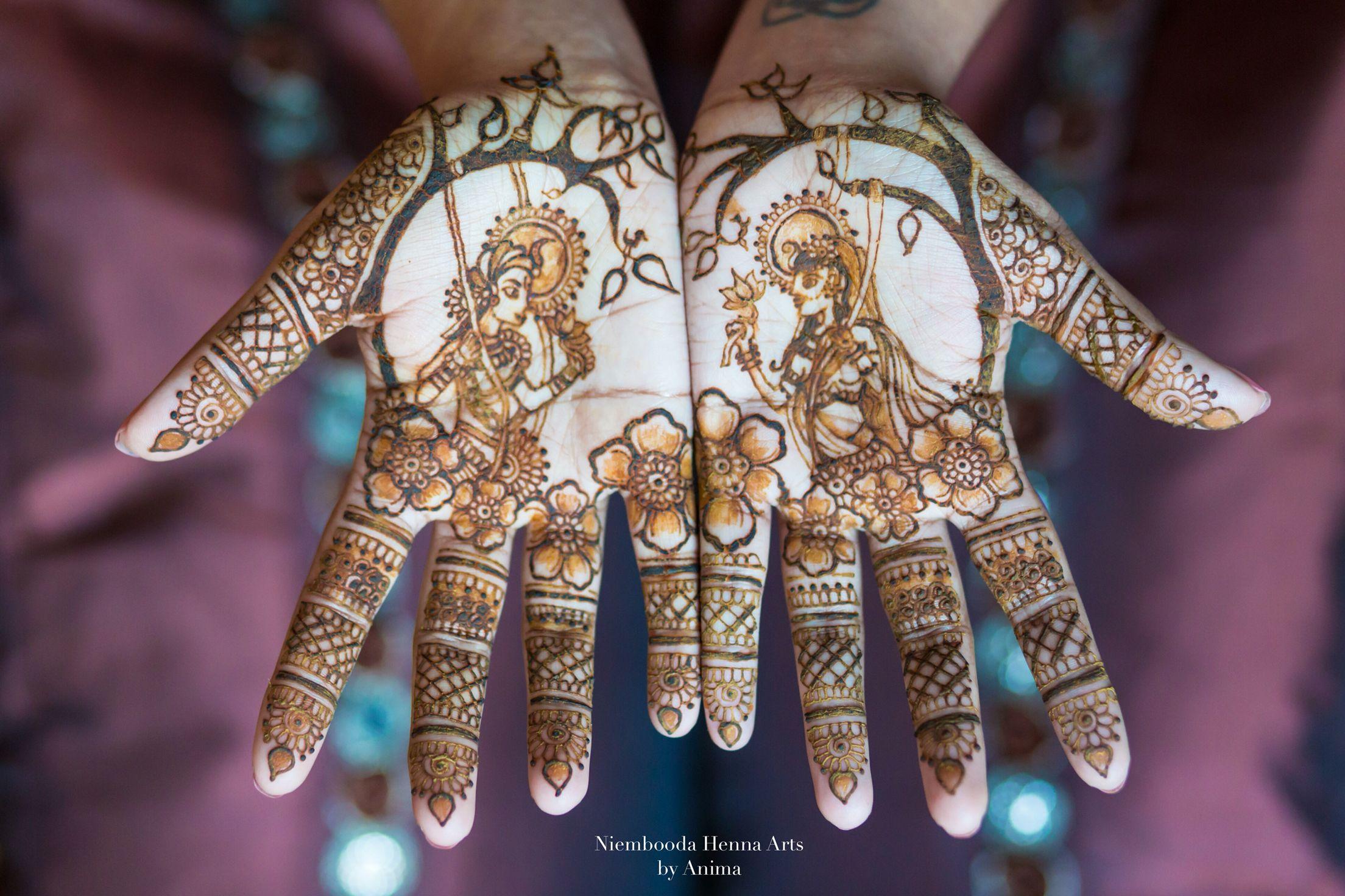 Mehndi Henna Wedding : Bridal henna wedding fusion krishna radha kanhaiya