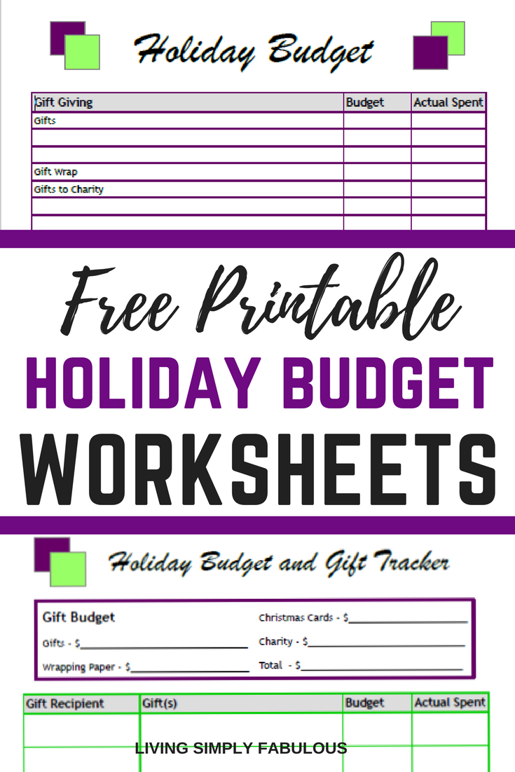 Stay On Track This Holiday Season With These Free Budget Worksheet