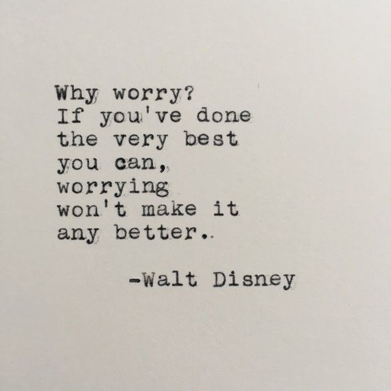 Walt Disney Quote Typed on Typewriter