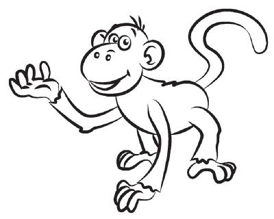 How to draw a monkey in 5 steps