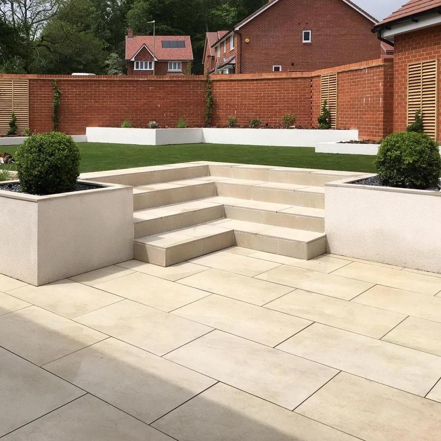 Porcelain paving for patio in 2020 Paving slabs, Garden