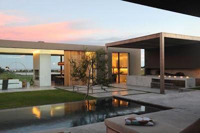 Quinchos minimalistas quinchos fachadas de casas for Casa moderna quincho