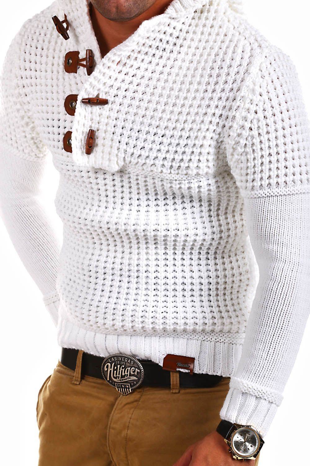 Details about TAZZIO Strick Pullover Hoodie Grobstrick