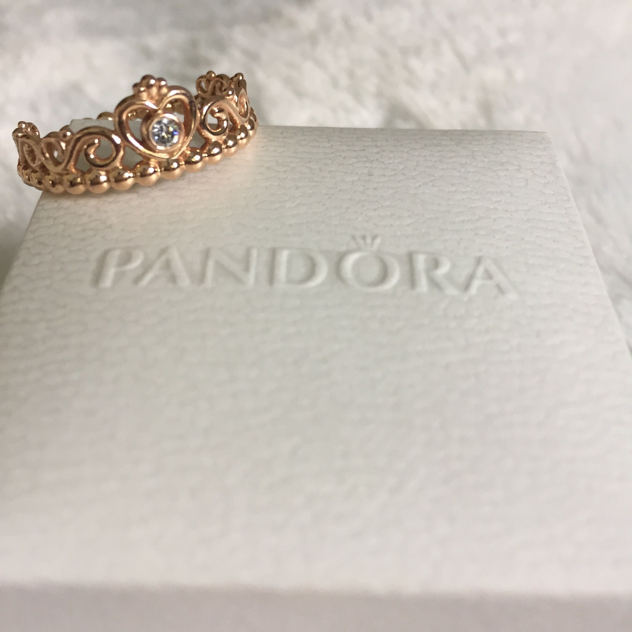 PANDORA Rose Princess Tiara Ring Princess tiara ring