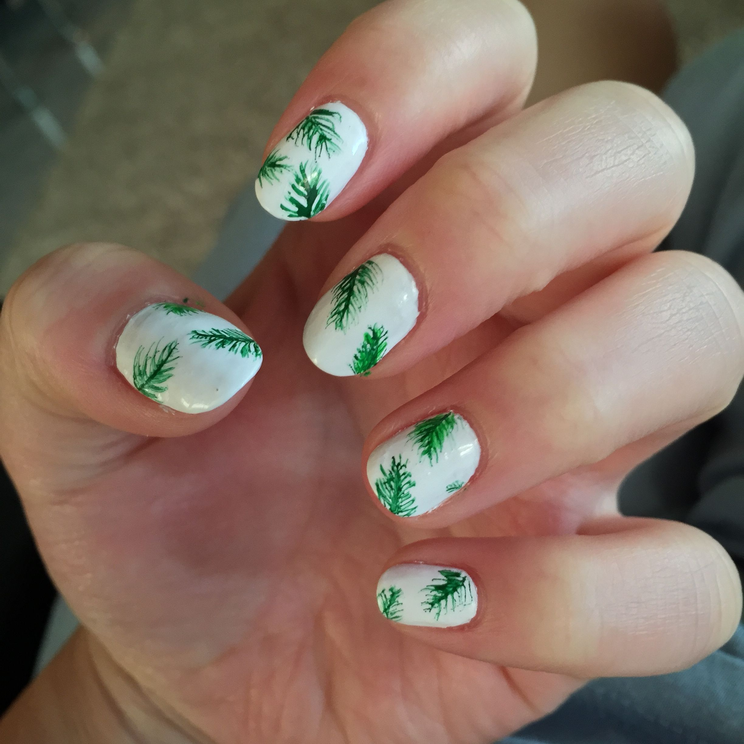 banana leaf print nails (these are my nails pictured here but i did ...