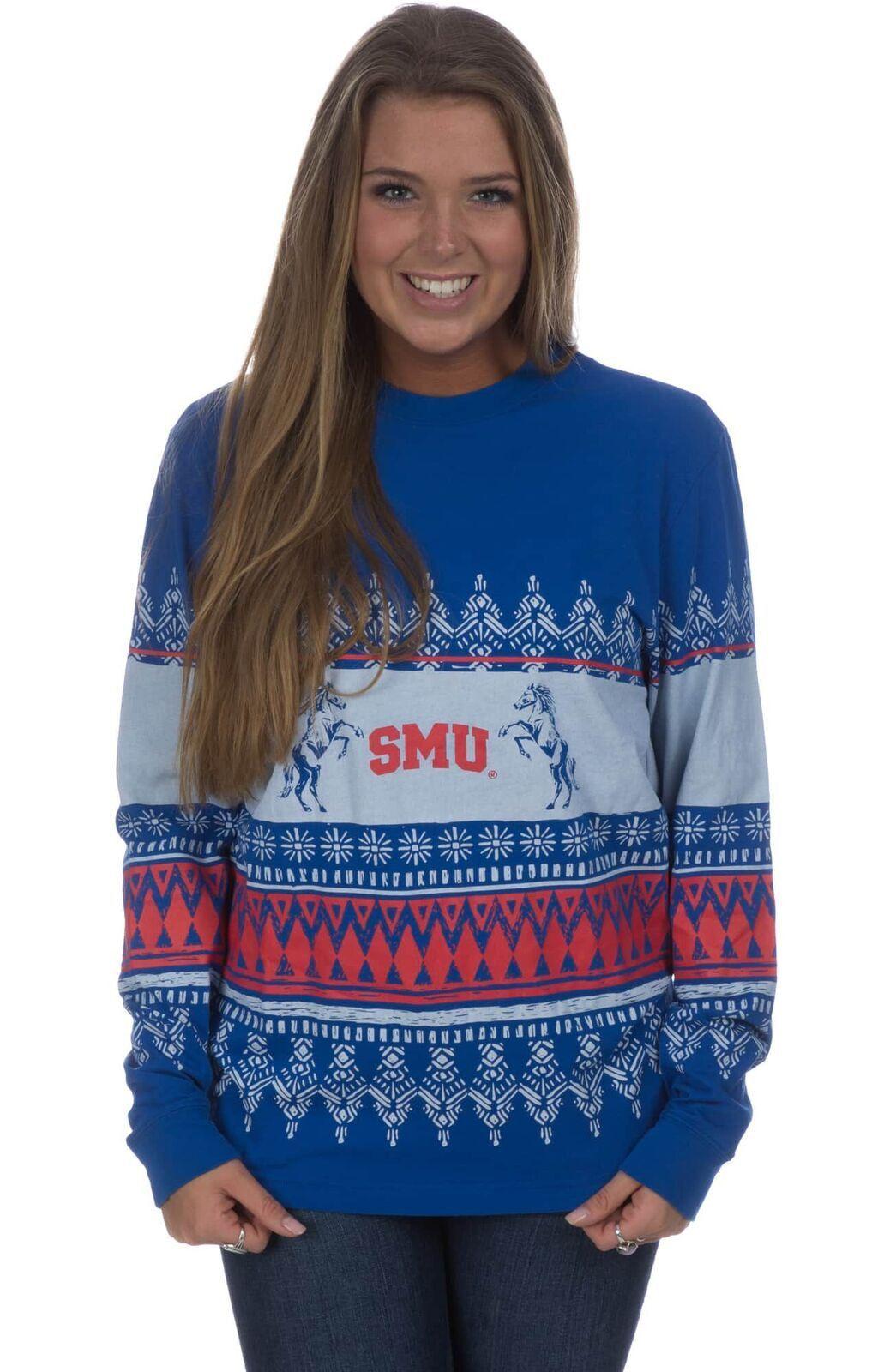 SMU Collegiate Christmas Sweater Tee | My Style | Pinterest | Final ...